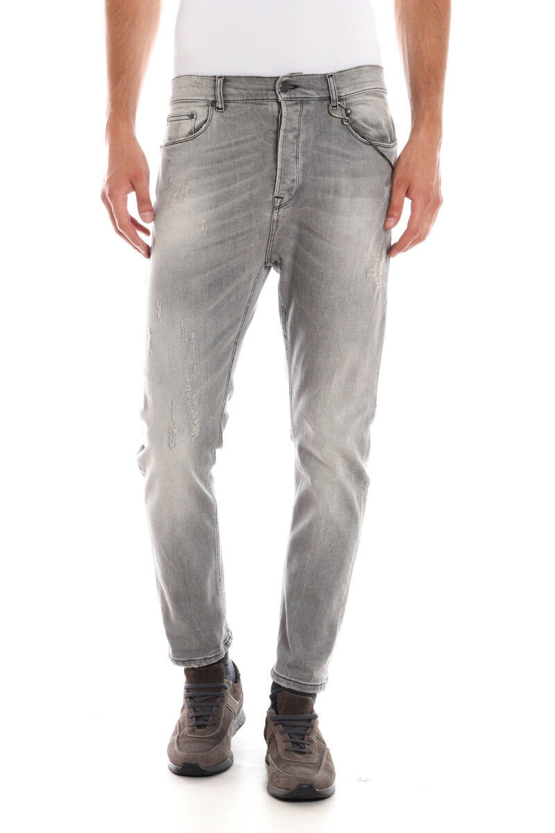 Jeans Daniele Alessandrini Cotone MADE IN ITALY men grey PJ5536L4123507 1111