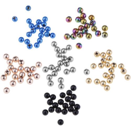 40x remplacement Belly Ring Vis Boule En Acier Inoxydable Remplacement Boules