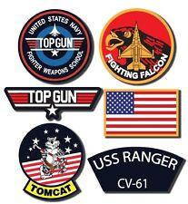 Maverick Top Gun Decal Set  -  Set of 6 Digitaly Printed Outdoor Stickers