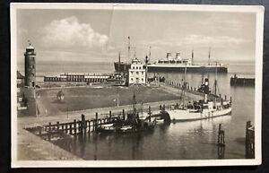 1937 SS Deutschland PO Germany RPPC Postcard cover To Providence NY USA