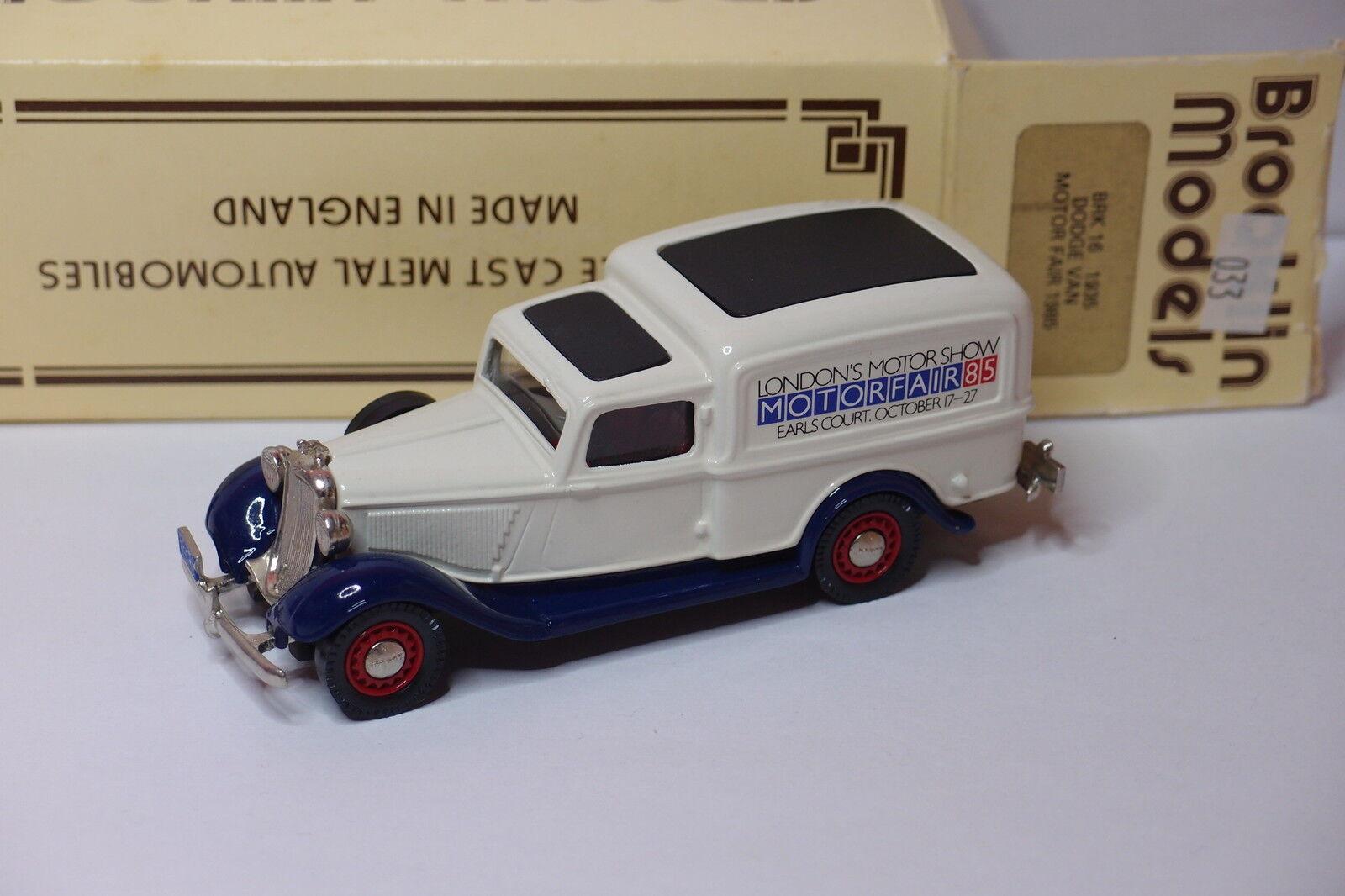 Brooklin brk - 16 1935 dodge van motor fair 1985 1   43