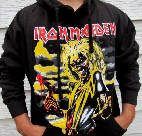 IRON MAIDEN HATCHETHOODIES METAL ROCK BLACK MEN/'S SIZES