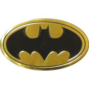 BATMAN-Logo-On-Gold-Metal-Large-Sized-New-Sticker-Decal-DC-Comic-super-hero-car