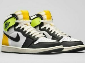 Air-Jordan-1-Retro-High-OG-Volt-Gold-Men-039-s-Lifestyle-Casual-Sneakers-555088-118