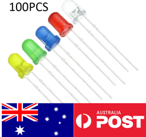 100Pcs-5-Colour-LED-light-3MM-Round-Kit-for-arduino-green-red-blue-while-RGB