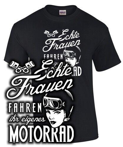 Biker T-shirt sort vraies femmes conduire votre propre moto drôle Vêtements