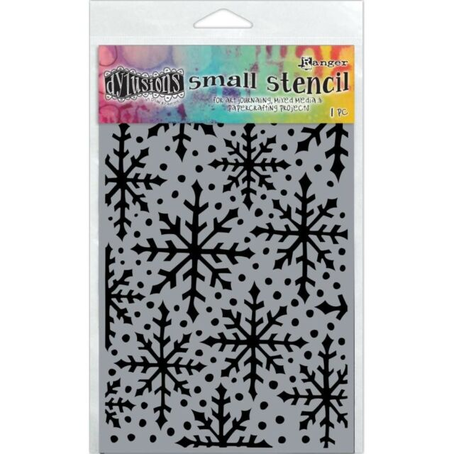 Ranger Dyan Reaveleys Dylusions Stencils 9-inch x 12-inch-Fronds Of Foliage,