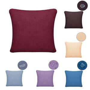 Waterproof Plaid Fabric Pillowcase Sofa Cushion Cover Pillow Case Waist Throw