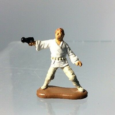 "Star Wars Micro Machines LUKE SKYWALKER w//Blaster Tatooine 1/"" Figure Galoob #1"