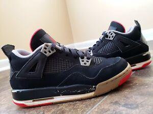 e08c6d48dd5104 Nike Air Jordan 4 IV Retro 2012 Fire Red Cement Grey Bred 408452-089 ...