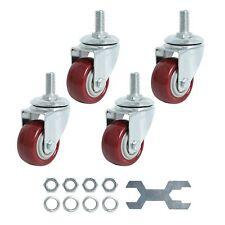 Swivel Caster Wheels 2 Inch Heavy Duty Threaded Stem Casters 38 16x1 Set Of 4