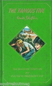 ENID-BLYTON-FAMOUS-FIVE-RUN-AWAY-TOGETHER-amp-GO-TO-SMUGGLER-039-S-TOP-RARE-2in1-HB