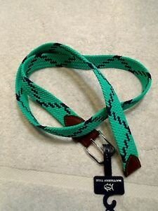 Southern-Tide-Braided-Bungee-Belt-Augusta-Green-amp-Navy-NWT-Size-Medium-65