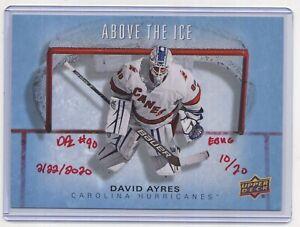 Emergency BackUp Goalie DAVID AYRES - UD ABOVE THE ICE #DA - AUTOGRAPHED 13/20