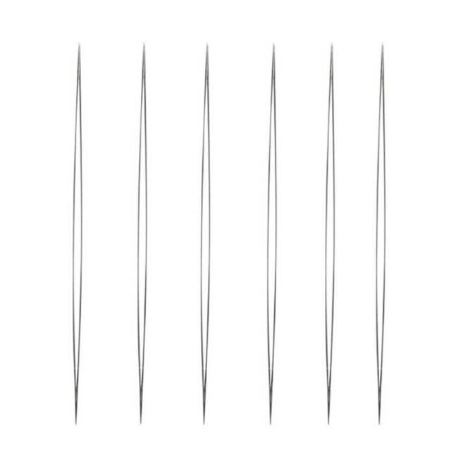 5pcs Big Eye Curved Beading Needles Easy Thread Craft DIY Jewellery j  CA