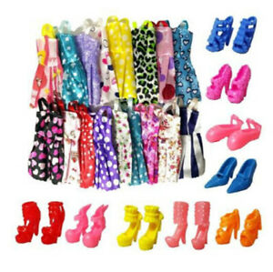 10xHandmade-Dress-Doll-Clothes-10xShoes-High-Heels-For-Doll-Kid-AU