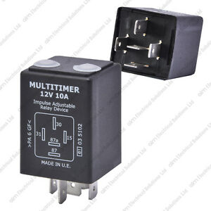 12V 10A Adjustable Timer Relay Delay On Off Universal