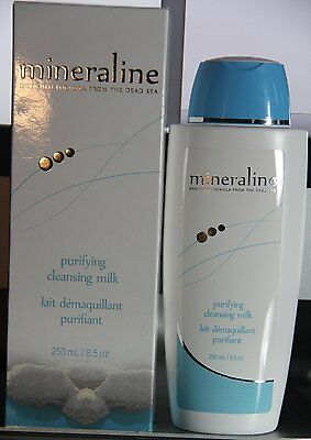 NIB Mineraline Enriched From The Dead Sea Purifying Cleansing Milk 8.5 Oz