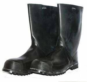 NEW-Swedish-Army-Genuine-Wellingtons-with-liner