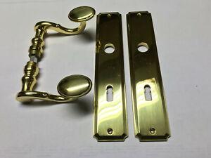 Jado-Drueckergarnitur-Posthorn-Messing-poliert-BB