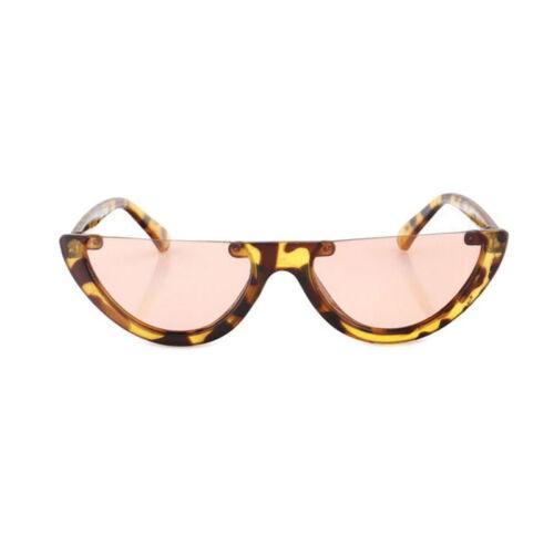 Mesdames Small Cat Eye Lunettes de soleil Fashion Shades Lunettes UV400 Demi-Monture