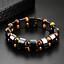 thumbnail 1 - Double Hematite Tiger's Eye Natural Bracelets Men Women Charm Bracelets Jewelry