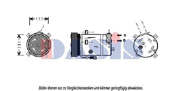 AKS DASIS Klimakompressor Kompressor, Klimaanlage 852200N für OPEL