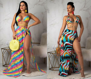 Sexy-Women-Colorful-Printed-Bikini-Skirt-Casual-Summer-Beach-Party-Swimsuit-3pc
