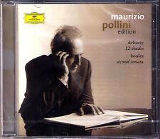 Maurizio POLLINI: DEBUSSY 12 Etudes BOULEZ Second Piano Sonata CD Pierre Etuden