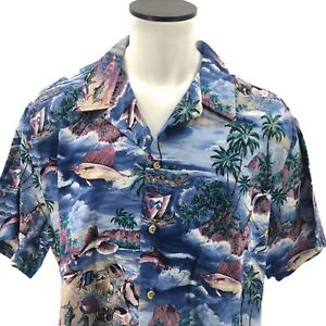 Kalaheo-Mens-XL-Hawaiian-Tropical-Aloha-Floral-Travel-Made-in-Hawaii-Black