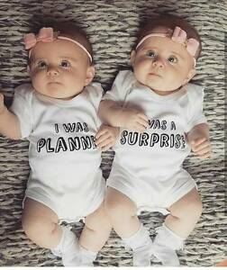 947df6639ea7 Image is loading Newborn-Baby-Boys-Girls-Sister-Brother-Twins-Romper-