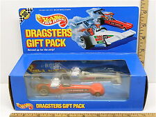 Vintage 1990 Hot Wheels Dragsters Gift Pack Die Cast Jolly Rancher Castrol NIB