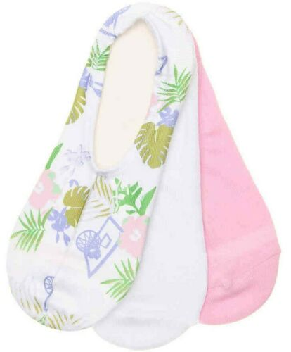 CONVERSE MADE FOR CHUCKS WOMENS ULTRA LOW CUT SOCKS Sz 4-10 White Pink Tropical