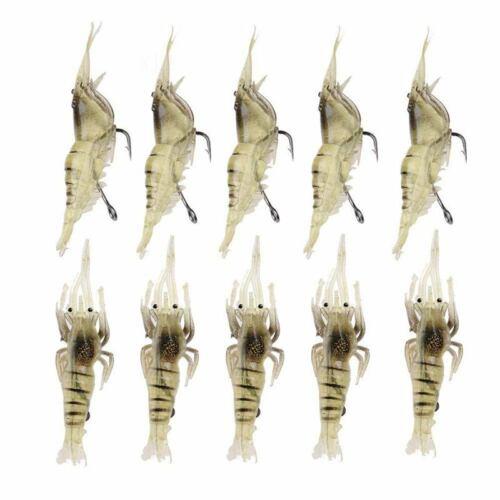10 Scheiben Garnelen Fischen Simulation Weicher Garnelen Köder Haken Fis I6Q9 5X