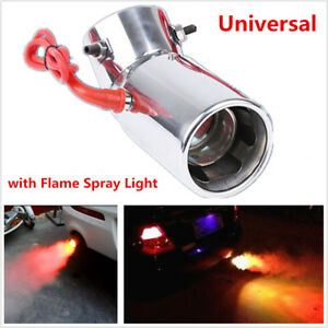 Image is loading 1xUniversal-Modified-Car-Exhaust-Pipe-Flame-Spray-Red- & 1xUniversal Modified Car Exhaust Pipe Flame Spray Red Light Spitfire ...