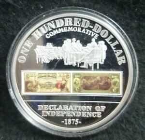 AMERICAN-MINT-U-S-National-Bank-Note-100-Declaration-of-Independence