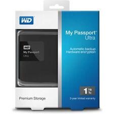 WD My Passport Ultra 1TB USB 3.0 Portable Hard Drive Classic Black