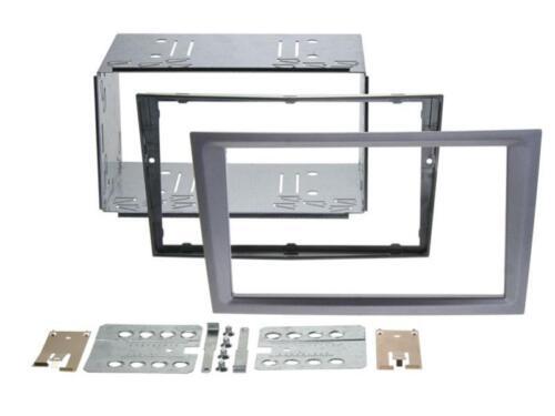 Opel Agila combo Corsa C autoradio instalación marco doble DIN radio diafragma charcoal