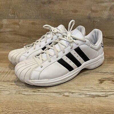 RARE Adidas Superstar 2G 0807 WhiteBlack Trim Men's US Size 18 Sneakers Shoes | eBay