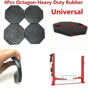 4xOctagon-135-10mm-Heavy-Duty-Rubber-Arm-Pads-Car-Lift-Accessories-Universal