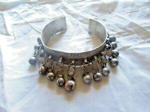 Vintage-Bracelet-Egyptian-Ethnic-Bedouin-Silver-Nubian-Bracelet-Cuff
