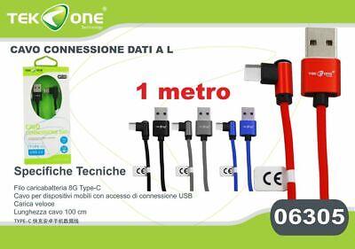Bello Cavo Dati Usb Tekone C9a Connettore A L Type-c Tipo C 2.1a 1mt Smartphone Hsb