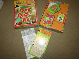 Details About Euc Time For Kids Don T Quote Me Board Game 500 Quotes Questions Top Toy Dr