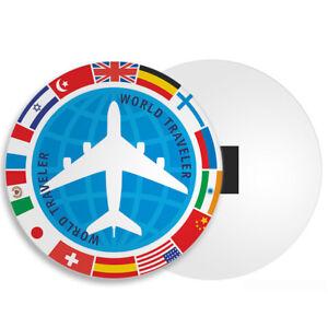 Voyage International Aimant De Réfrigérateur-avion Avion Monde Drapeaux Pilote Cadeau #4348-afficher Le Titre D'origine êTre Nouveau Dans La Conception