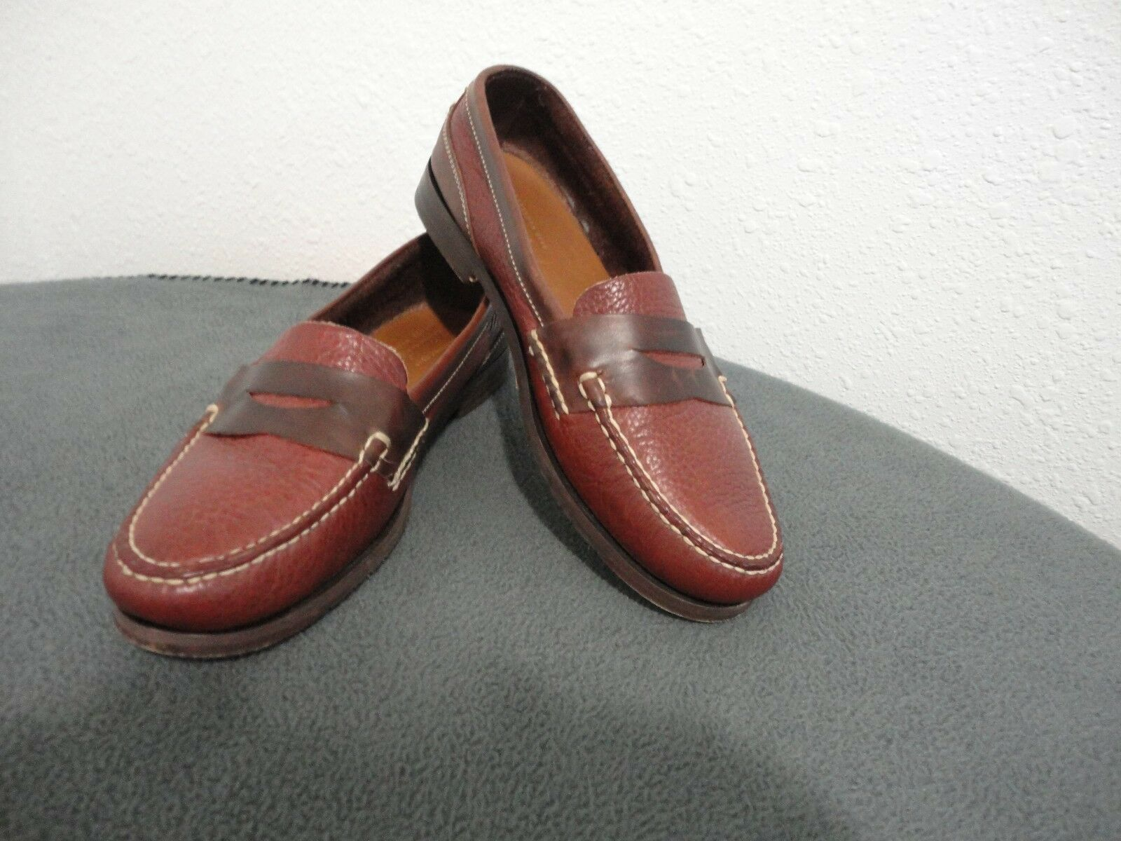 Scarpe casual da uomo Whitten's Private Stock uomos Brwn Leather Penny Loafers 10.5M/Dominican Republic