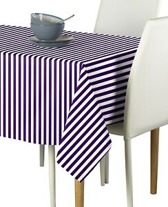 Image Is Loading Small Stripes Purple Signature Tablecloths Assorted Sizes