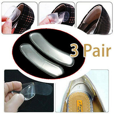 3Pairs Silicone Back Heel Liner Gel Cushion Pads Insole High Dance Shoes Grip XJ
