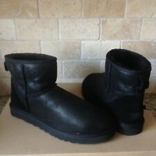 e459c5bee61 UGG Australia Classic Mini Black Bomber Suede Sheepskin BOOTS Size US 11  Mens