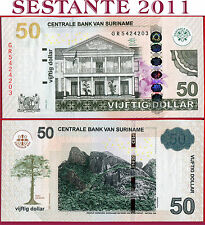 (com) SURINAME  - 50 DOLLARS 1.4. 2012 - P 165b (not listed in catalog)  -  UNC