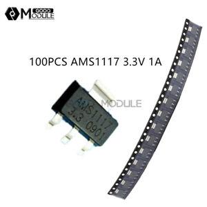 100PCS-AMS1117-3-3-LM1117-3-3V-1A-SOT-223-Voltage-Regulator-top-quality